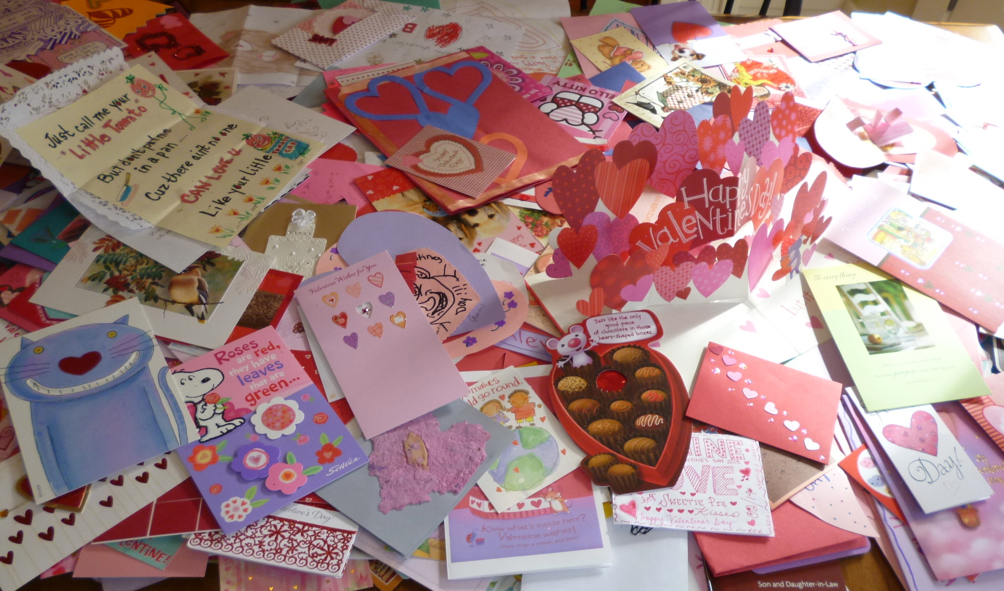 Table Full of Valentines