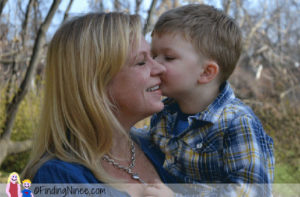 Writer Kristi Campbell and Son