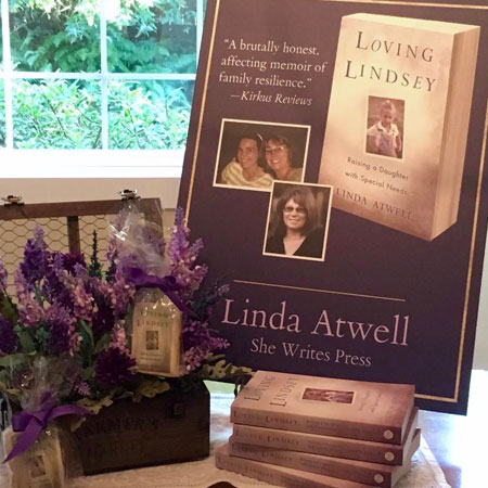 Loving Lindsey Book Launch Display