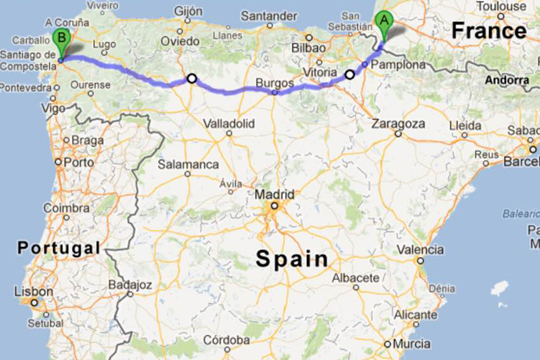 Camino Walk Spain Map.A 500 Mile Walk My Camino De Santiago Begins Soon Linda Atwell